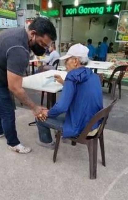 elderly man little india