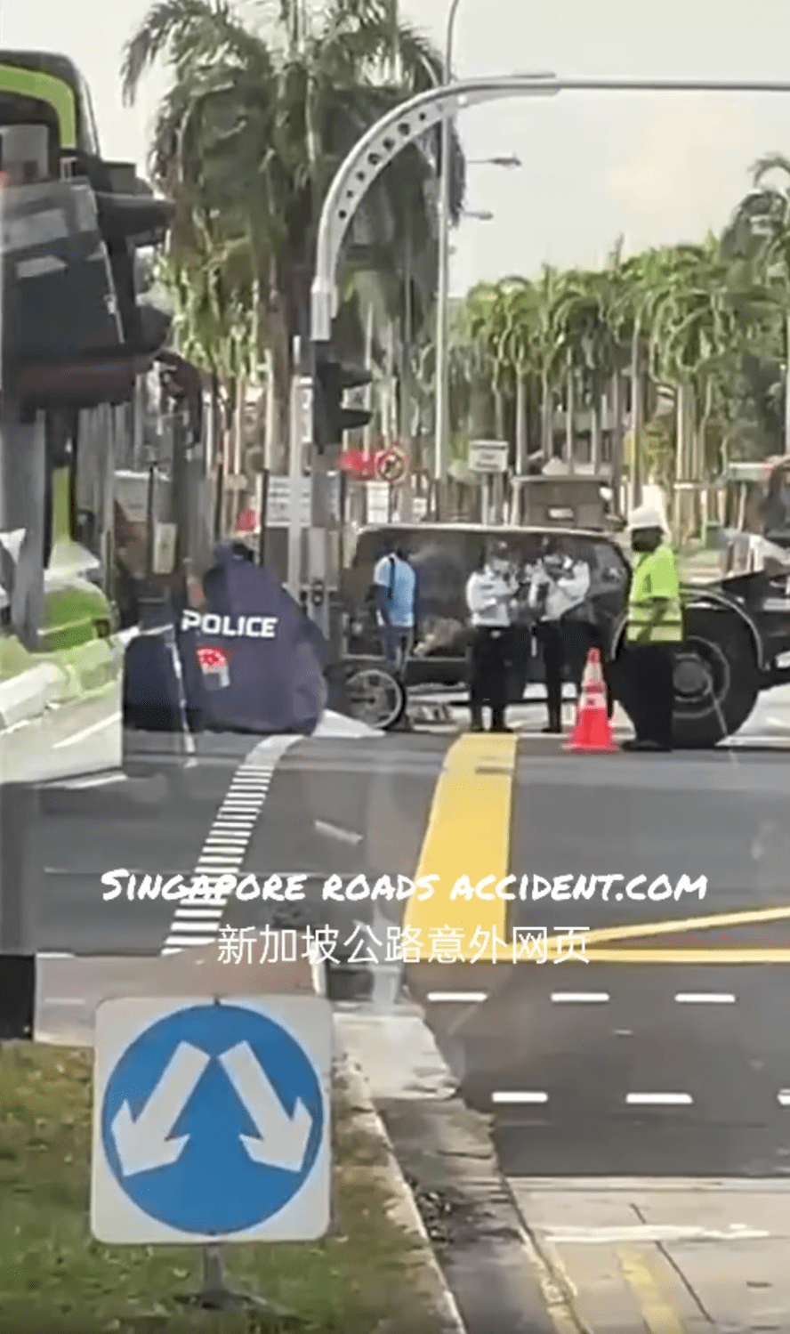Motorcyclist accident loyang avenue