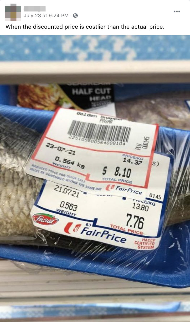 mislabelled product fairprice