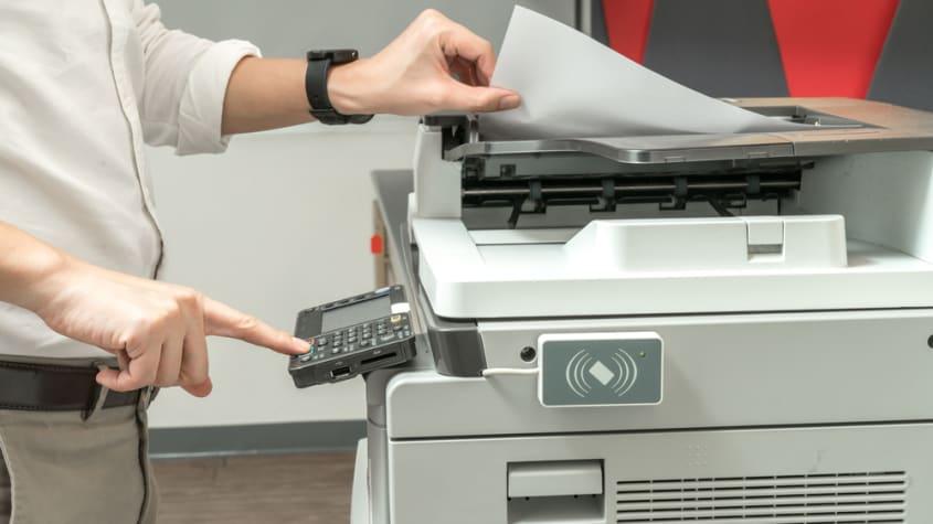 man printing business