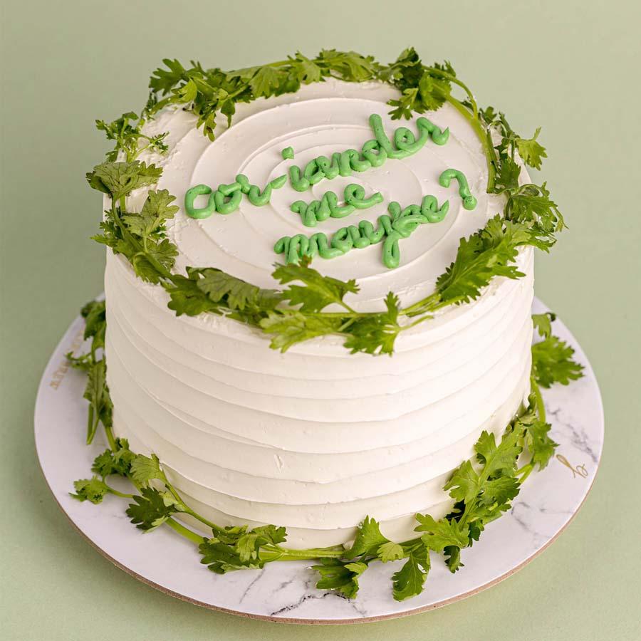 coriander cakes 1