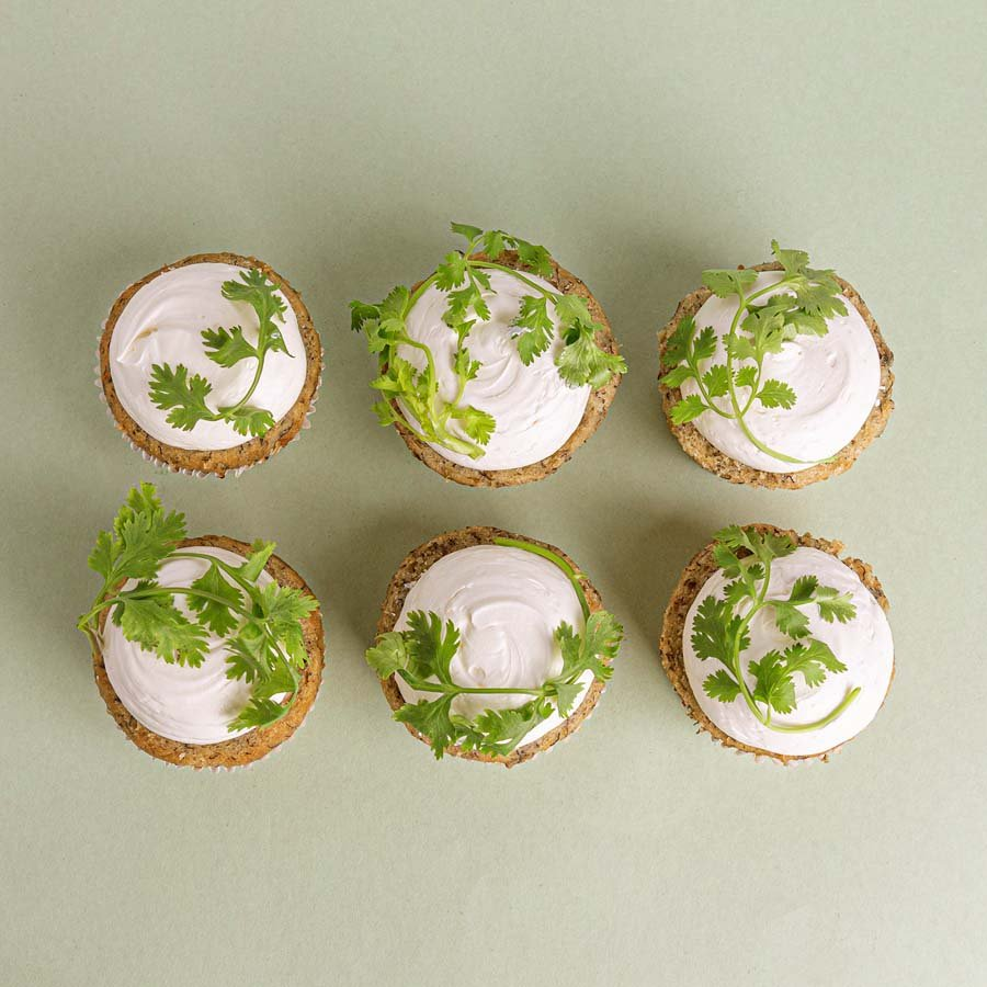 coriander cakes 2