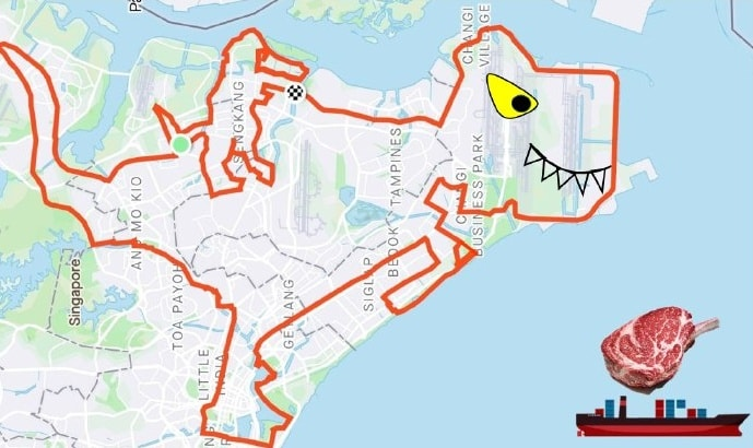 Cyclist pig route