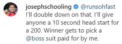 joseph schooling challenge