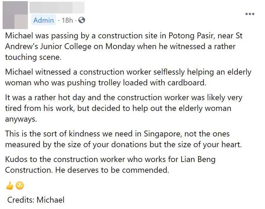 construction worker helps