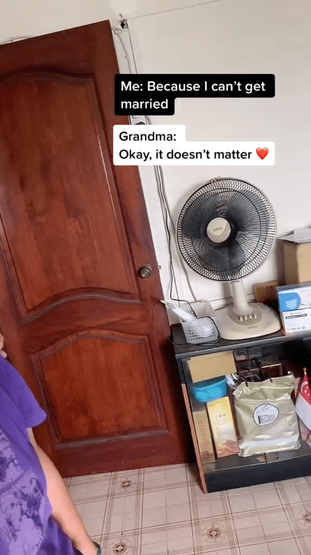 Man comes out grandma